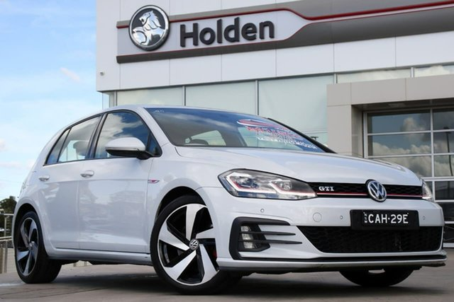 Used Volkswagen Golf 7.5 MY18 GTI DSG, 2018 Volkswagen Golf 7.5 MY18 GTI DSG White Silver 6 Speed Sports Automatic Dual Clutch Hatchback