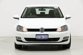 2015 Volkswagen Golf AU MY15 103 TSI Highline White 7 Speed Auto Direct Shift Hatchback.