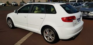 2010 Audi A3 8P MY10 TFSI Sportback S Tronic Ambition White 7 Speed Sports Automatic Dual Clutch