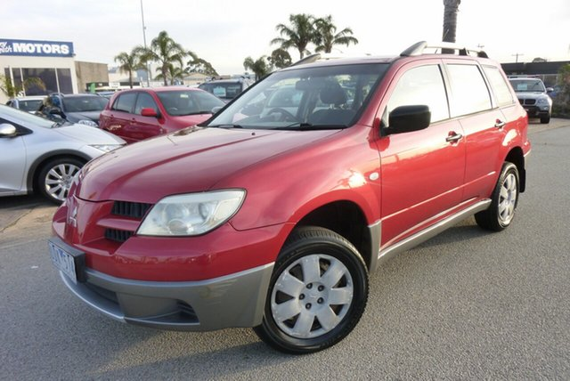 Used Mitsubishi Outlander ZF LS, 2005 Mitsubishi Outlander ZF LS Burgundy 4 Speed Auto Sports Mode Wagon