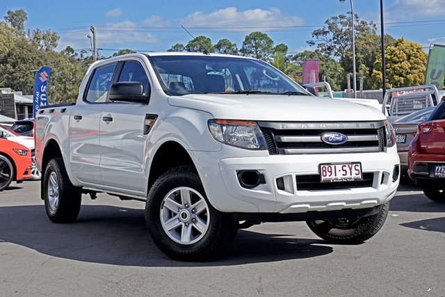 Used Ford Ranger PX XL Double Cab 4x2 Hi-Rider, 2012 Ford Ranger PX XL Double Cab 4x2 Hi-Rider White 6 Speed Manual Utility