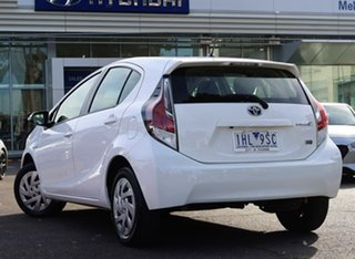 2016 Toyota Prius c NHP10R E-CVT White 1 Speed Constant Variable Hatchback Hybrid.