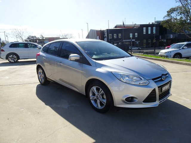 Used Ford Focus LW MkII Trend PwrShift, 2013 Ford Focus LW MkII Trend PwrShift Ingot Silver 6 Speed Sports Automatic Dual Clutch Hatchback