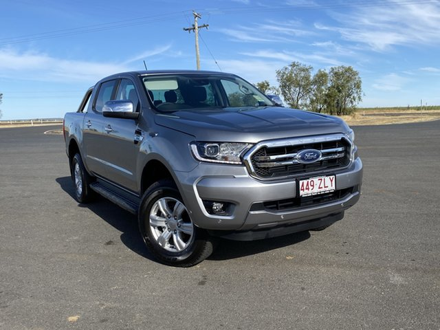 Used Ford Ranger PX MkIII 2020.25MY XLT Pick-up Double Cab, 2020 Ford Ranger PX MkIII 2020.25MY XLT Pick-up Double Cab Aluminium 10 Speed Sports Automatic