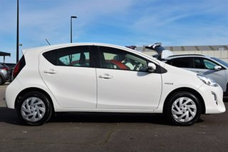 2016 Toyota Prius c NHP10R E-CVT White 1 Speed Constant Variable Hatchback Hybrid