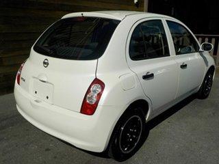 2008 Nissan Micra K12 White 4 Speed Automatic Hatchback.