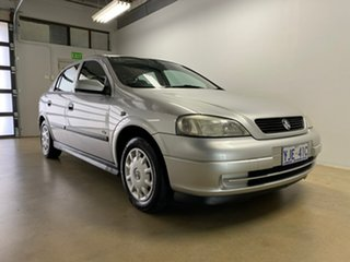 2002 Holden Astra TS City Silver 5 Speed Manual Hatchback.