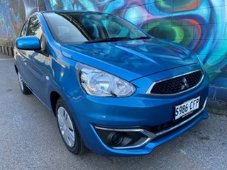2019 Mitsubishi Mirage LA MY20 ES Cyber Blue 1 Speed Constant Variable Hatchback.