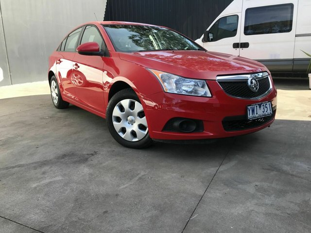 Used Holden Cruze JH MY12 CD Fawkner, 2012 Holden Cruze JH MY12 CD Red 6 Speed Automatic Sedan