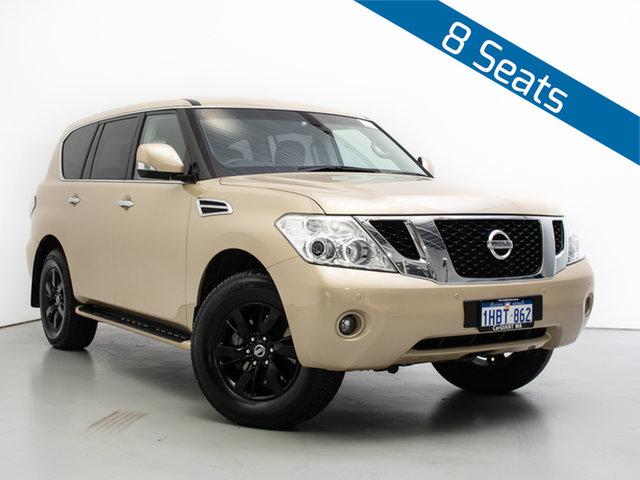 Used Nissan Patrol Y62 TI (4x4), 2015 Nissan Patrol Y62 TI (4x4) Gold 7 Speed Automatic Wagon