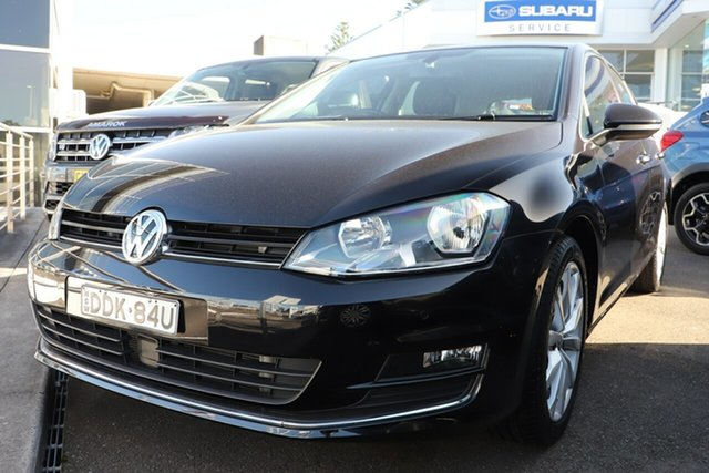Used Volkswagen Golf VII MY16 110TSI DSG Highline, 2016 Volkswagen Golf VII MY16 110TSI DSG Highline Metallic Black 7 Speed