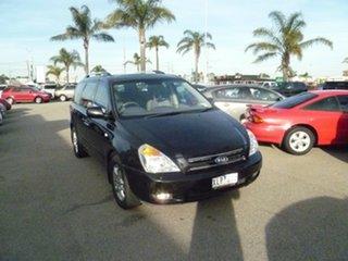 2009 Kia Grand Carnival VQ Premium Black 5 Speed Sports Automatic Wagon.