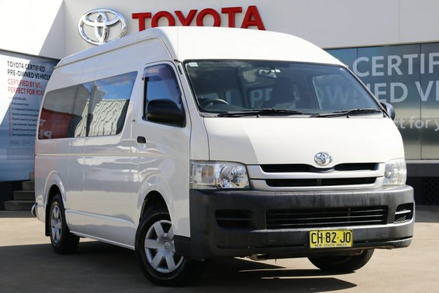 Used Toyota HiAce KDH223R MY07 Upgrade Commuter, 2009 Toyota HiAce KDH223R MY07 Upgrade Commuter White 4 Speed Automatic Bus