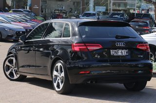 2016 Audi A3 8V MY17 1.4 TFSI Sportback CoD Black 7 Speed Auto S-Tronic Hatchback.