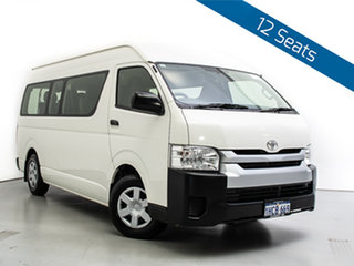 2018 Toyota HiAce KDH223R MY16 Commuter White Bus.