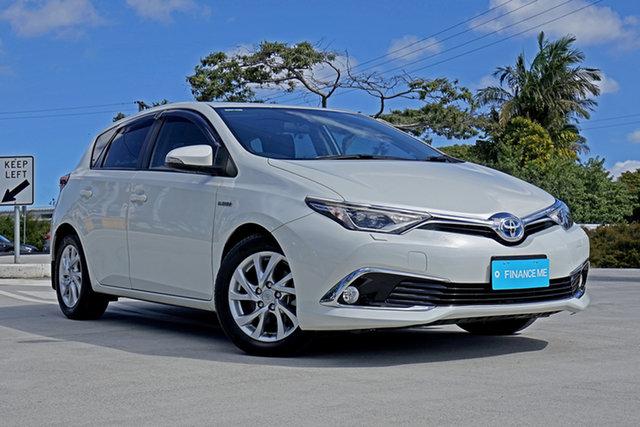 Used Toyota Corolla ZWE186R Hybrid E-CVT, 2017 Toyota Corolla ZWE186R Hybrid E-CVT Pearl White 1 Speed Constant Variable Hatchback Hybrid
