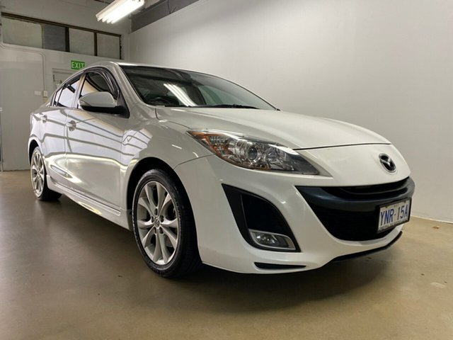Used Mazda 3 BL SP25, 2010 Mazda 3 BL SP25 White 6 Speed Manual Sedan