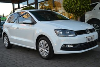 2015 Volkswagen Polo 6R MY15 66TSI DSG Trendline White 7 Speed Sports Automatic Dual Clutch.