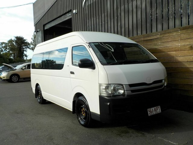 Used Toyota HiAce KDH223R MY08 Commuter High Roof Super LWB, 2007 Toyota HiAce KDH223R MY08 Commuter High Roof Super LWB White 5 Speed Manual Bus