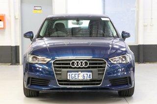 2016 Audi A3 8V MY16 1.4 TFSI Attraction CoD Blue 7 Speed Auto Direct Shift Sedan.