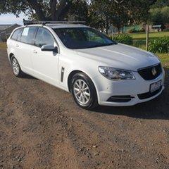 2014 Holden Commodore VF Evoke White Sports Automatic Wagon.