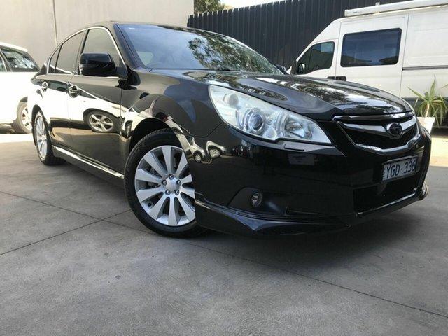 Used Subaru Liberty MY12 3.6R Premium (Sat) Fawkner, 2011 Subaru Liberty MY12 3.6R Premium (Sat) Black 5 Speed Automatic Sedan