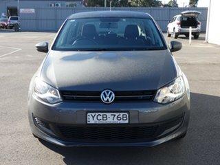 2014 Volkswagen Polo 6R MY14 77TSI Comfortline Grey 6 Speed Manual Hatchback.