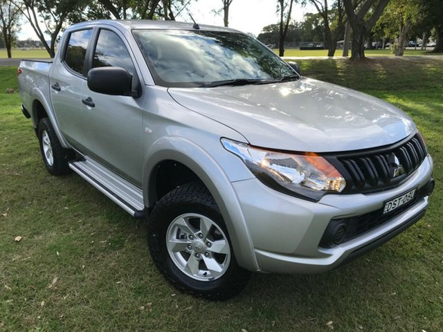 Used Mitsubishi Triton MQ MY18 GLX+ Double Cab, 2018 Mitsubishi Triton MQ MY18 GLX+ Double Cab Silver 6 Speed Manual Utility