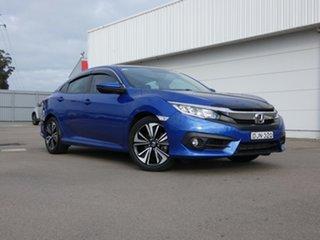 2016 Honda Civic 10th Gen MY16 VTi-L Blue 1 Speed Constant Variable Sedan.