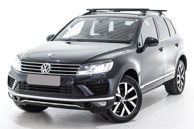 Used Volkswagen Touareg 7P MY18 Monochrome Tiptronic 4MOTION, 2018 Volkswagen Touareg 7P MY18 Monochrome Tiptronic 4MOTION Black 8 Speed Sports Automatic Wagon