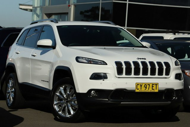 Used Jeep Cherokee KL MY15 Limited, 2015 Jeep Cherokee KL MY15 Limited White 9 Speed Sports Automatic Wagon
