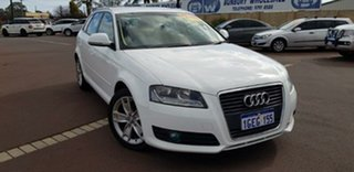 2010 Audi A3 8P MY10 TFSI Sportback S Tronic Ambition White 7 Speed Sports Automatic Dual Clutch.