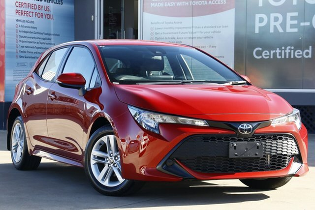 Used Toyota Corolla Mzea12R Ascent Sport, 2019 Toyota Corolla Mzea12R Ascent Sport Volcanic Red 10 Speed Constant Variable Hatchback