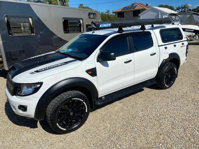 Used Ford Ranger PX XL 2.2 Hi-Rider (4x2), 2012 Ford Ranger PX XL 2.2 Hi-Rider (4x2) White 6 Speed Automatic Cab Chassis