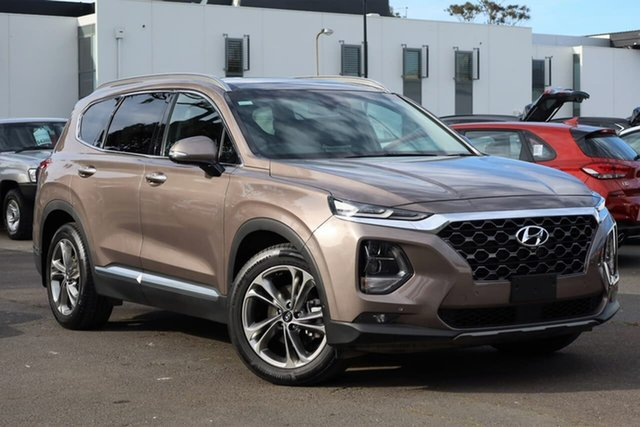 Used Hyundai Santa Fe TM MY19 Highlander, 2019 Hyundai Santa Fe TM MY19 Highlander Tan Brown 8 Speed Sports Automatic Wagon