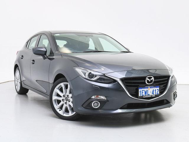 Used Mazda 3 BM SP25 GT, 2015 Mazda 3 BM SP25 GT Grey 6 Speed Automatic Hatchback
