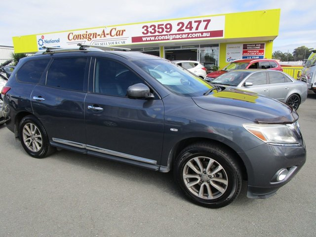 Used Nissan Pathfinder R52 MY14 ST-L X-tronic 2WD, 2013 Nissan Pathfinder R52 MY14 ST-L X-tronic 2WD Grey 1 Speed Constant Variable Wagon