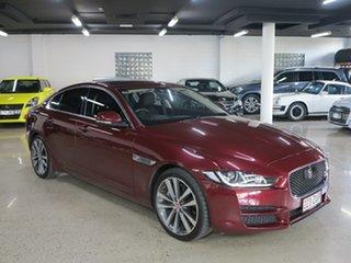 2015 Jaguar XE X760 MY16 Portfolio Odyssey Red 8 Speed Sports Automatic Sedan.