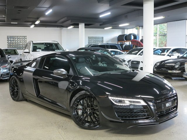 Used Audi R8 MY15 S Tronic Quattro, 2015 Audi R8 MY15 S Tronic Quattro Mythos Black 7 Speed Sports Automatic Dual Clutch Coupe