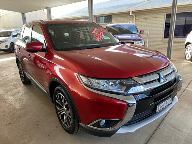 Used Mitsubishi Outlander ZK MY16 LS (4x2), 2015 Mitsubishi Outlander ZK MY16 LS (4x2) Red Continuous Variable Wagon