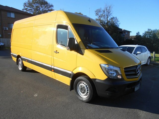 Used Mercedes-Benz Sprinter 906 MY14 313CDI LWB Hi Roof, 2015 Mercedes-Benz Sprinter 906 MY14 313CDI LWB Hi Roof Yellow 6 Speed Manual Van