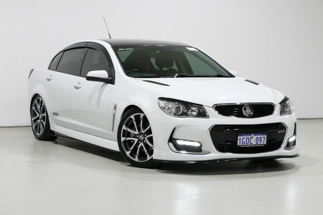 Used Holden Commodore VF II MY17 SS, 2017 Holden Commodore VF II MY17 SS White 6 Speed Manual Sedan