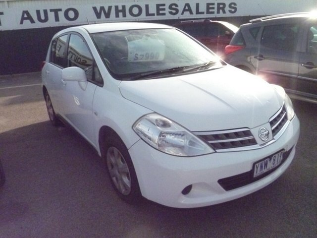 Used Nissan Tiida C11 S3 ST, 2011 Nissan Tiida C11 S3 ST White 4 Speed Automatic Hatchback