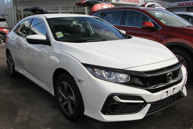 New Honda Civic 10th Gen MY20 VTi, 2020 Honda Civic 10th Gen MY20 VTi Taffeta White 1 Speed Constant Variable Sedan