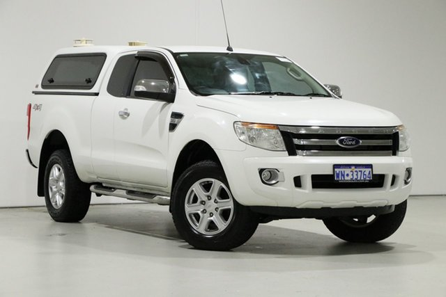 Used Ford Ranger PX XLT 3.2 (4x4), 2015 Ford Ranger PX XLT 3.2 (4x4) White 6 Speed Automatic Super Cab Utility