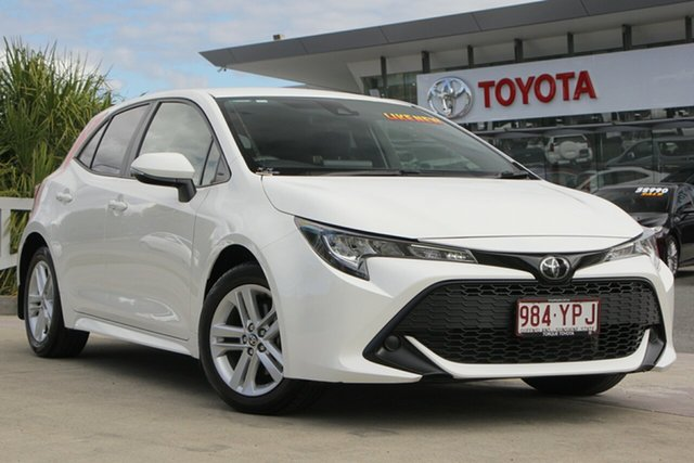 Used Toyota Corolla Mzea12R Ascent Sport, 2018 Toyota Corolla Mzea12R Ascent Sport Glacier White 10 Speed Constant Variable Hatchback