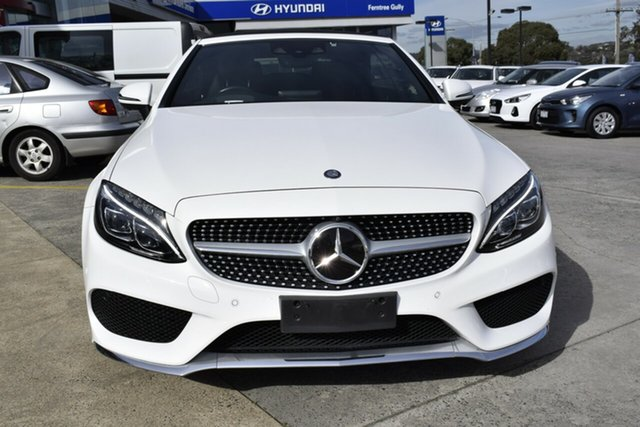Used Mercedes-Benz C-Class A205 807+057MY C300 9G-Tronic, 2017 Mercedes-Benz C-Class A205 807+057MY C300 9G-Tronic White 9 Speed Sports Automatic Cabriolet