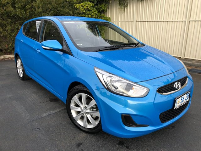 Used Hyundai Accent RB6 MY19 Sport, 2018 Hyundai Accent RB6 MY19 Sport Blue Lagoon 6 Speed Sports Automatic Hatchback