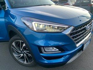 2020 Hyundai Tucson TL3 MY20 Highlander D-CT AWD Aqua Blue 7 Speed Sports Automatic Dual Clutch.
