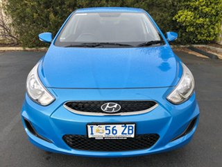 2018 Hyundai Accent RB6 MY19 Sport Blue Lagoon 6 Speed Sports Automatic Hatchback.